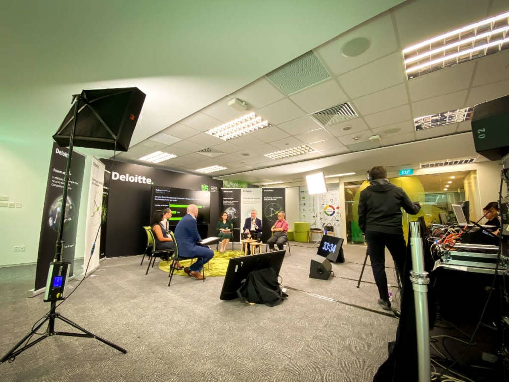 Webinar Livestream with Lighting for Deloitte by Compass Events