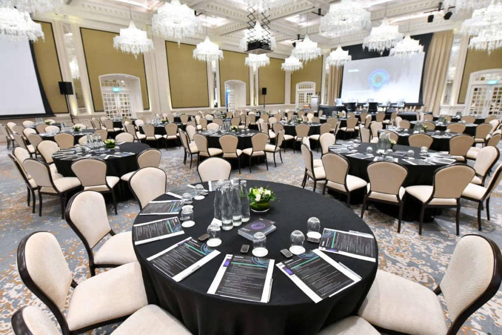 Conference at Jubilee Ballroom in Raffles Hotel by Compass Events